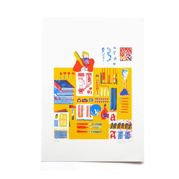 Gaby Bazin Typographe Serigraphie